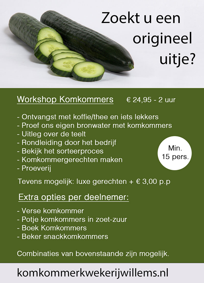 Workshop komkommerkwekerij 2